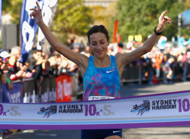 Sinead Diver pictured last July after winning the Women's 10km race during Love Your Sister Run in Sydney.