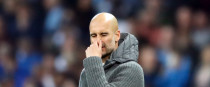 Manchester City manager Pep Guardiola appears dejected during the UEFA Champions League quarter final.