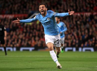 Manchester City's Bernardo Silva celebrates scoring