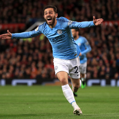Manchester City's Bernardo Silva celebrates scoring