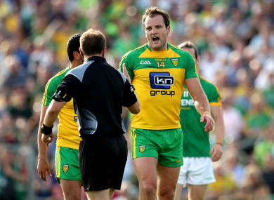 Michael Murphy during Donegal's qualifier win over Meath in 2017.