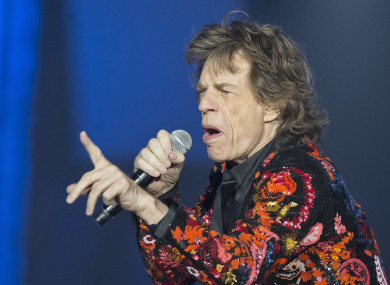 Mick Jagger performing at the Rolling Stones' 'No Filter' Europe Tour 2017 at U Arena in Nanterre, outside Paris, France.