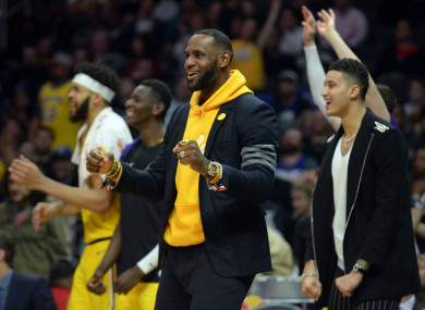 LA Lakers' LeBron James.