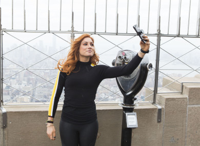 WWE Superstar Becky Lynch pictured at the Empire State Building on Friday.