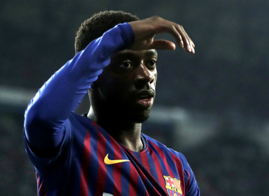 Barcelona and France attacker Ousmane Dembele.