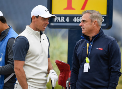 Rory McIlroy (left) and Paul McGinley at last year's Open in Carnoustie.