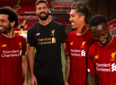 92a294d52 Liverpool unveil new Bob Paisley-inspired home kit for 2019 20 season