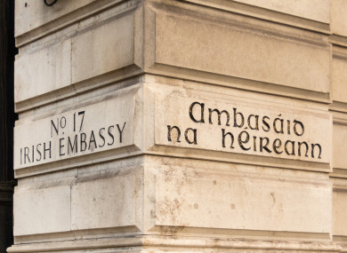 Image result for embassy of ireland london