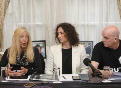 (l to r) Antoinette Keegan, Lynn Boylan and Eugene Kelly