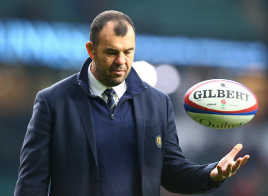 Michael Cheika: former Leinster boss hasn't spoken to his player about controversy.