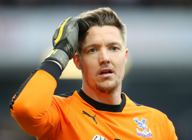 Crystal Palace and Wales goalkeeper Wayne Hennessey