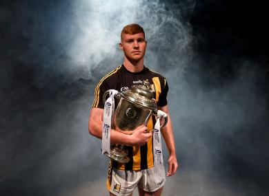 Kilkenny's Adrian Mullen at today's Bord Gáis Energy U20 hurling championship launch.