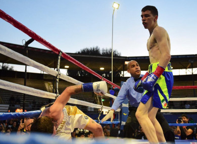 Stevie McKenna wiped out Trey Branch on his professional debut in California.