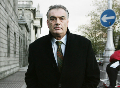 Ian Bailey outside the Four Courts in Dublin. (File, 2014)