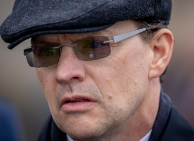 O'Brien: four winners on trials day at Naas.