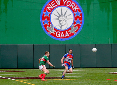 Andy Moran in action at Gaelic Park last night.