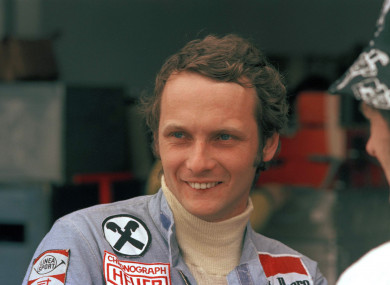Lauda at the Argentine Grand Prix in 1975