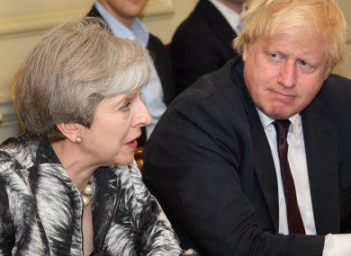 May and Johnson pictured in 2017 when he was foreign secretary.