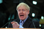 Favourite for the leadership Boris Johnson.