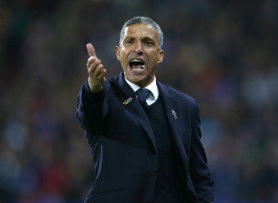 Hughton helped keep Brighton in the Premier League for a second successive season this year.