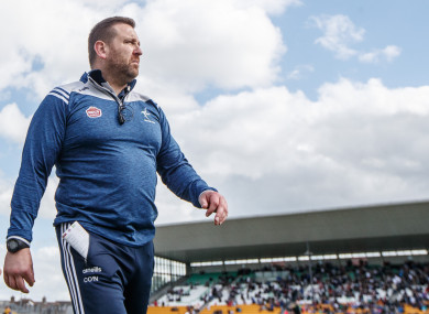 Cian O'Neill at yesterday's game in Tullamore.