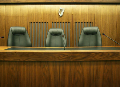 A general view of the judge's chairs in the special criminal court