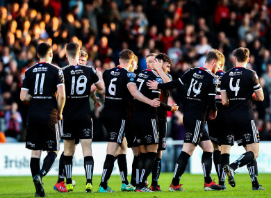 Bohs celebrate a second win in five days at Dalymount this evening.