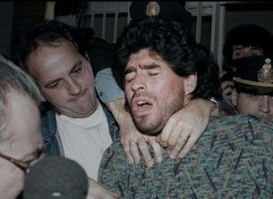 Maradona during the film.