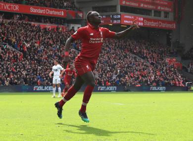 Liverpool star Saudio Mane.