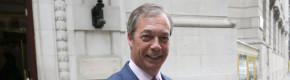 Nigel Farage looking pleased with himself this morning.