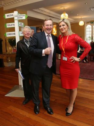 Fine Gael TD Maria               Bailey with former Taoiseach Enda Kenny.