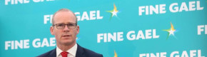 Tánaiste Simon Coveney speaking at the launch of Fine Gael's European election campaign.
