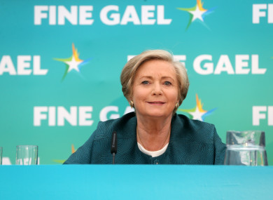 Former Tanaiste and Justice Minister Frances Fitzgerald who is a Fine Gael candidate in the european elections.