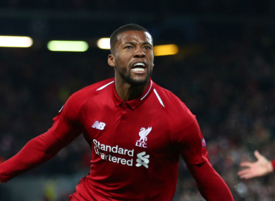 buy popular 44904 4276d Wijnaldum's anger at being benched inspired two-goal display ...