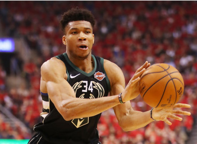 Giannis Antetokounmpo in Game 6 against the Raptors.
