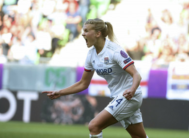 Hegerberg: steamrolled Barca with 16-minute hat-trick.