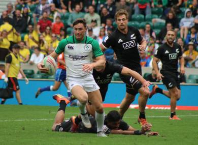Ireland were beaten by New Zealand in the fifth place play-off.