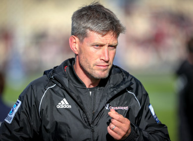 Ronan O'Gara, coaching with Crusaders.