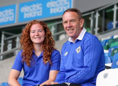 Shiels alongside Northern Ireland captain Marissa Callaghan.