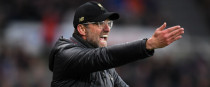 Liverpool boss Jurgen Klopp reacts on the touchline during the Premier League game at Newcastle United.