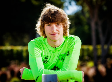 Connell pictured during Ireland's training camp in Quinto do Lago.