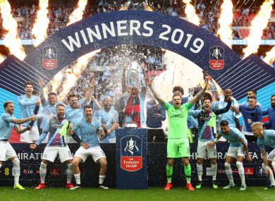 City were crowned FA Cup champions at the weekend.