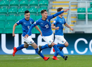Winning: Italy had a good day in Tallaght.
