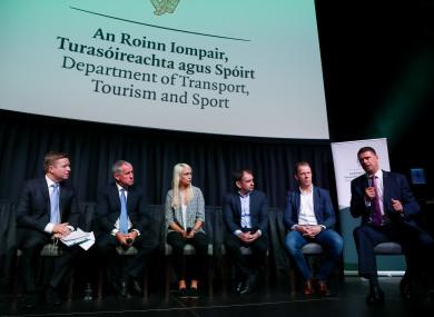 Darragh Maloney, Ciaran Kane,Stephanie Roche, Pat Fenlon, Stephen McGuiness, and Niall Quinn,