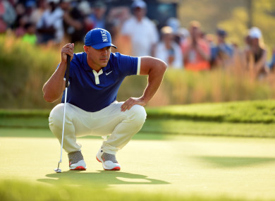Koepka in action at Bethpage Black.