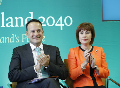 Taoiseach Leo Varadkar and Minister for Culture, Heritage and the Gaeltacht, Josepha Madigan.