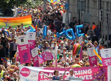 Gay Pride in Dublin last year.
