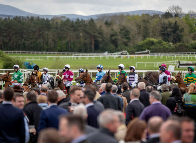 A view of yesterday's action at Punchestown.