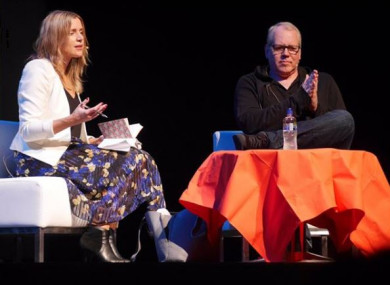 Bret Easton Ellis at an International Literature Festival event last month
