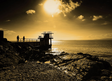 The Blackrock diving platform at Salthill
